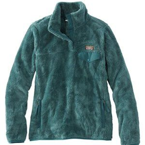 L.L.Bean Hi-Pile Dark Teal Fleece Pullover L